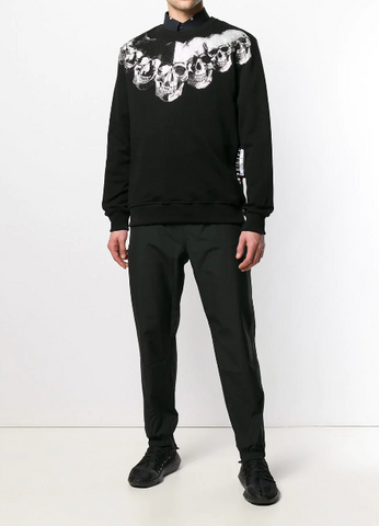BLACK SWEAT WITH SCULLS AND STONES FROM PHILIPP PLEIN