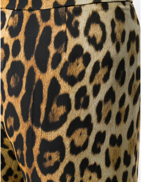 LEOPARD PRINT SILK PANTS FROM MOSCHINO