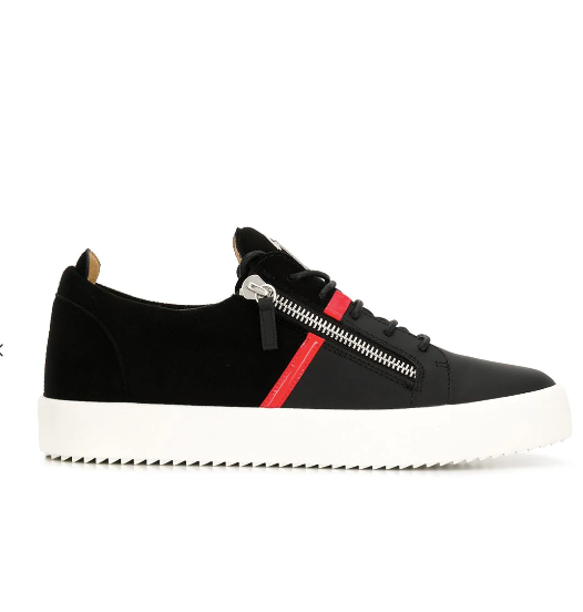 BLACK SNEAKER  WITH RED DETAIL FROM GIUSEPPE ZANOTTI