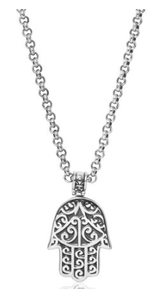 HAMSA HAND CHAIN IN SILVER FINISH FROM NIALAYA