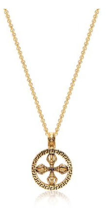 GOLD DOJE AMULET NECKLACE FROM NIALAYA
