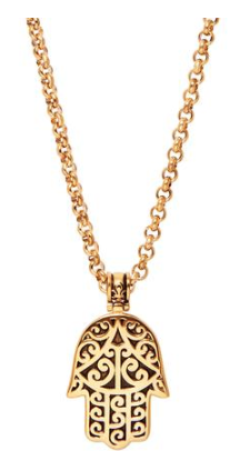 GOLD HAMSA  HAND NECKLACE FROM NIALAYA