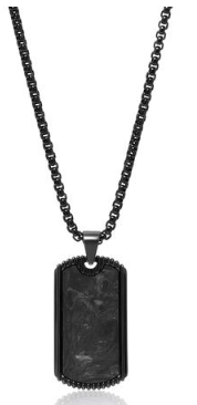 DOG TAG IN BLACK FROM THE CARBON COLLECTION FROM NIALAYA