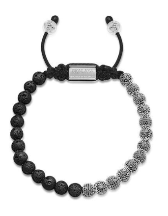 BLACK BRACELET IN BLACK AND SILVER FROM NIALAYA