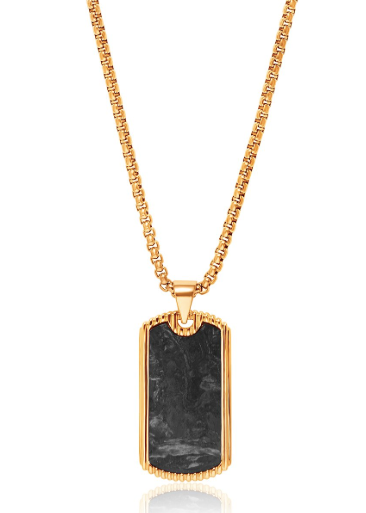 DOG TAG IN BLACK AND GOLD FROM NIALAYA