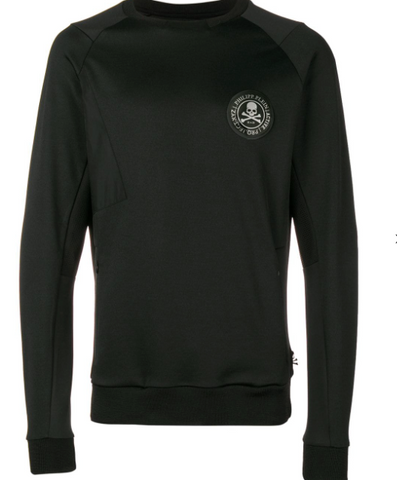 BLACK LOGO PATCH SWEATSHIRT FROM PHILIPP PLEIN