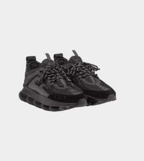 BLACK CHAIN REACTION SNEAKERS FROM VERSACE