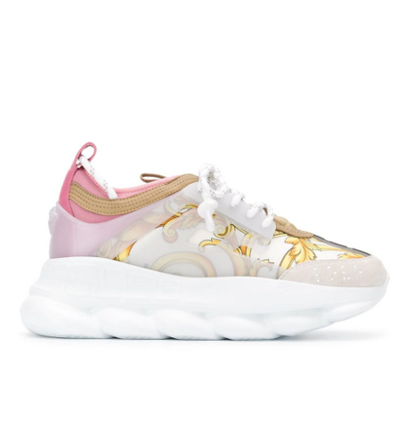 cce9391a7b baroc chain reaction sneaker in light pink from versace