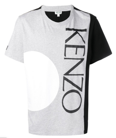 TSHIRT GREY BLACK AND WHITE WITH LOGO FROM KENZO