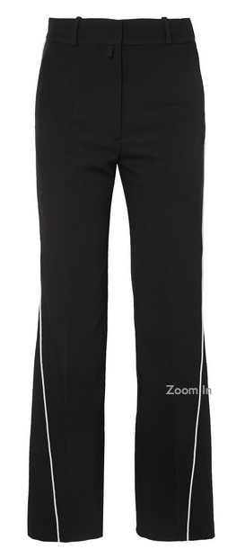 BLACK PANTS WITH OFF WHITE PIPING FROM PETAR PETROV