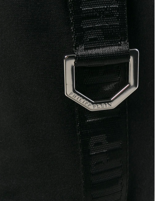 BLACK TRACK PANTS WITH RING AND BAND FROM PHILIPP PLEIN