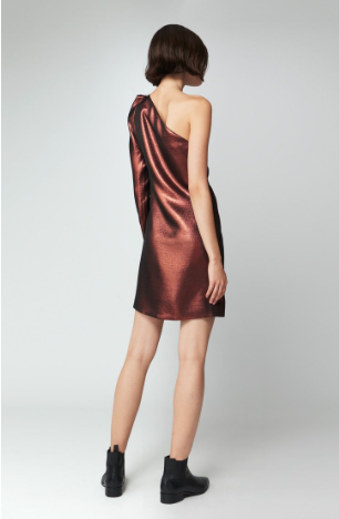 COPPER DRESS ONE SLEEVE FROM VICTORIA BECKHAM