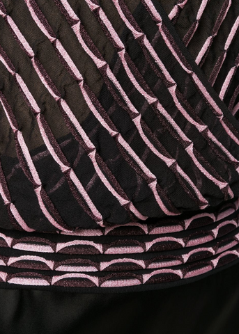 BLOUSE FROM M MISSONI IN LIGHT PINK AND BLACK