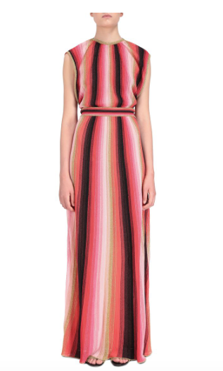 MULTI COLOUR LONG DRESS IN RED AND PINK FROM M MISSONI
