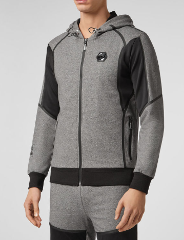 GREY AND BLACK HOODIE SWEAT FROM PHILIPP PLEIN