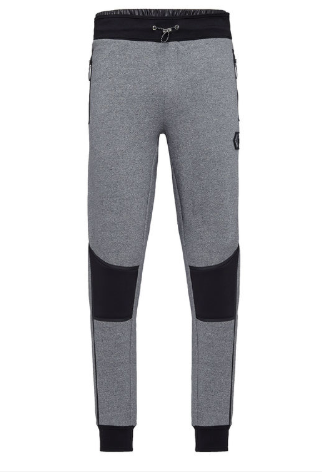GREY SWEAT PANTS WITH BLACK DETAILS FROM PHILIPP PLEIN