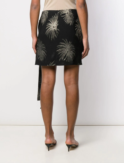 SHORT BLACK PALM SKIRT FROM VICTORIA BECKHAM