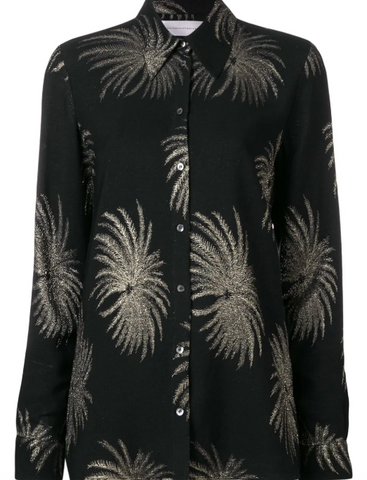 BLACK PALM SHIRT FROM VICTORIA BECKHAM