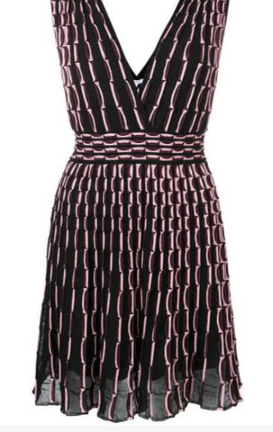 TEXTURED DRESS IN LIGHT PINK AND BLACK FROM MISSONI