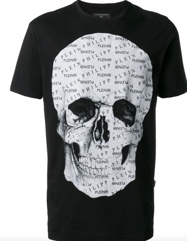 BLACK TSHIRT WITH GREY SCULL FROM PHILIPP PLEIN