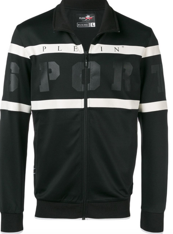 black and white logo jacket from philipp plein sport