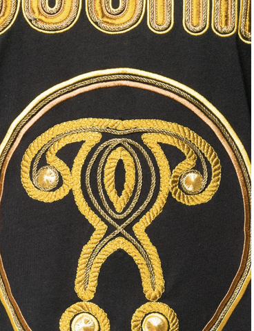 BLACK OVERSIZE TSHIRT WITH GOLD EMBROIDERY FROM MOSCHINO