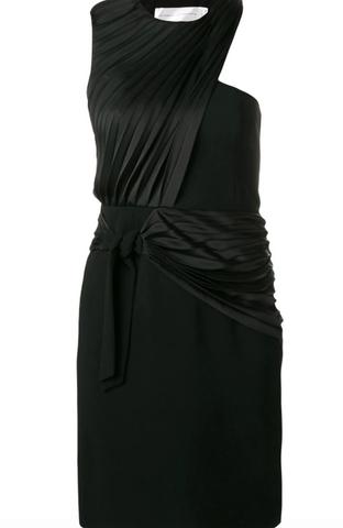BLACK PLEATED SILK DRESS FROM VICTORIA BECKHAM