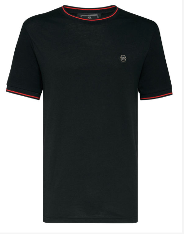 Black t-shirt with red details from Philipp Plein