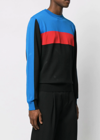 black knit with blue and red stripe from kenzo