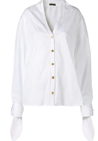 WHITE VNECK SHIRT FROM VERSACE