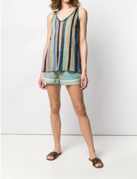 GREEN MULTI TOP IN STRIPE FROM  MISSONI