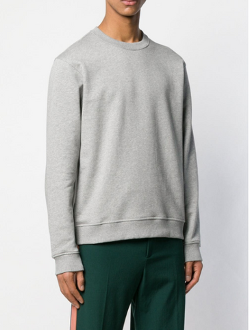 GREY SWEATSHIRT WITH WHITE LOGO ON THE BACK FROM KENZO