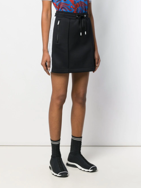 black skirt with white logo stripe from kenzo