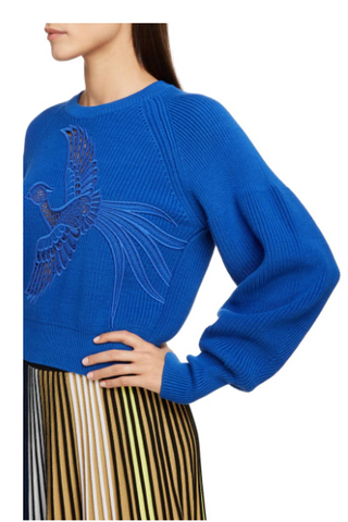 blue phoenix knit blouse from kenzo