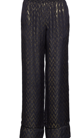 blue metallic gold toned pants from birgitte herskind