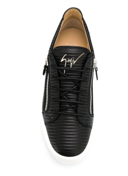 black sneaker with pattern in the leather from giuseppe zanotti
