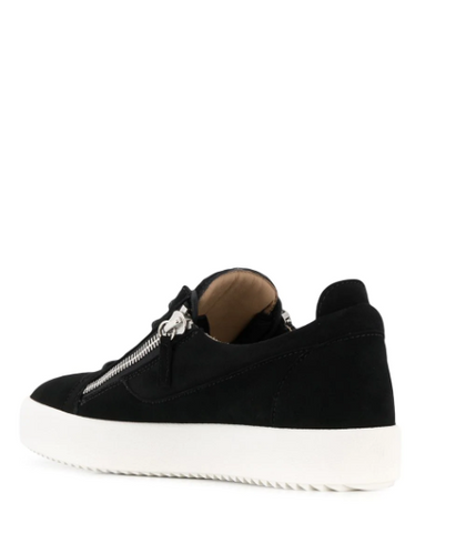 black low top suede sneaker from giuseppe zanotti