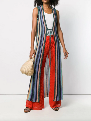 long multi colour cardigan from missoni