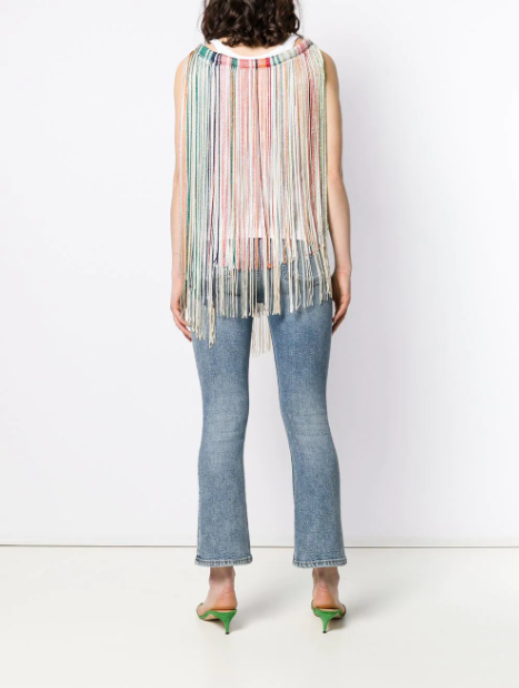 missoni poncho with fringe