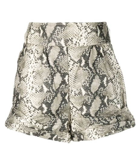 snake effect shorts in beige from philosophy di lorenzo serafini