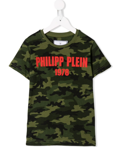 philipp plein junior tshirt in military look
