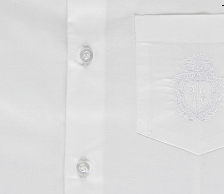 white shirt with embroidery emblem from billionaire junior