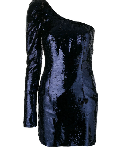 midnight blue sequins dress from amen