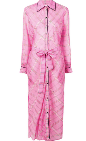 pink long shirt dress from victoria beckham