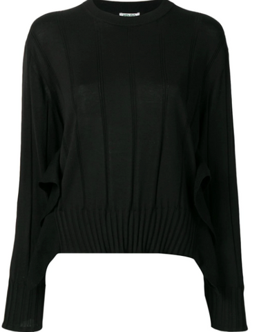 black knit wear from kenzo