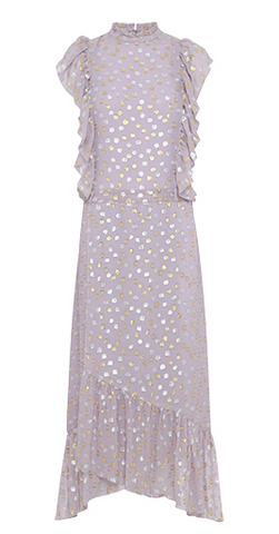 acid dress with gold and silver dots from birgitte herskind