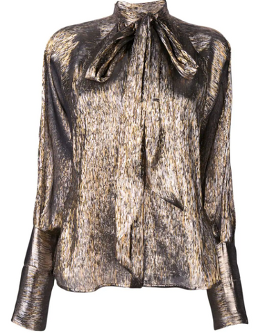 Bronze metallic blouse from petar petrov