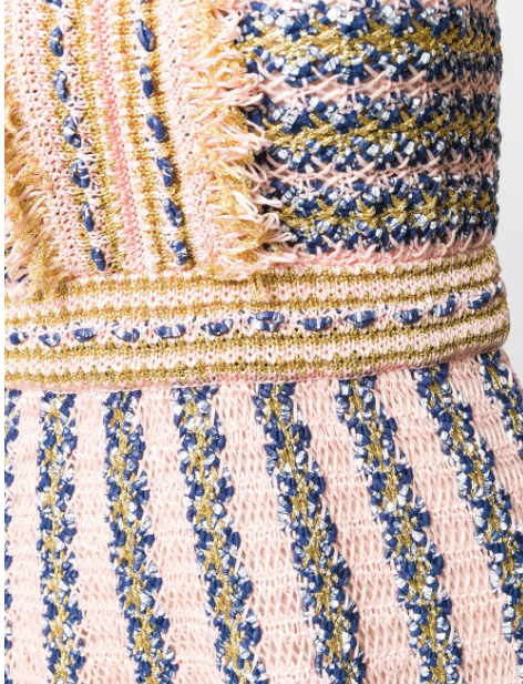 Light pink and blue knit dress from missoni