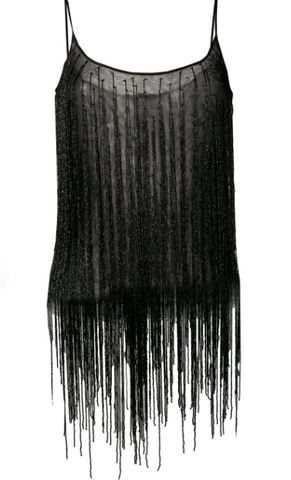 Black top with fringe from amen