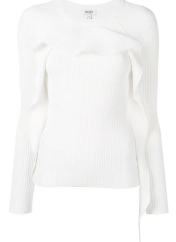 Offwhite ruffle knit from kenzo